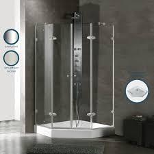 22 Inch Shower Door Vigo 45 X 45 Frameless Neo Angle Clear Brushed Nickel Shower Enclosure