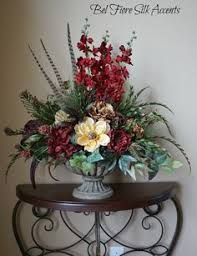 Silk Flowers Arrangements - tuscan decor silk flower arrangement dining by belfioresilkaccents