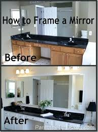 mirror framing ideas bathroom bathroomwood framed mirrors bathroom