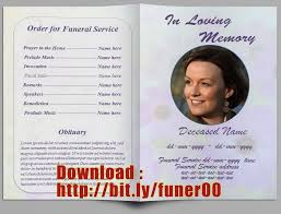 free sle funeral programs templates free editable memorial service program template http