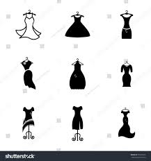 party silhouette party fashion dress icon silhouette clothes stock vector 573205276