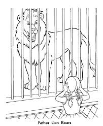 roaring lion zoo animal coloring pages zoo lions coloring page