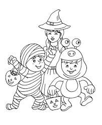 halloween colouring pages kids free printables