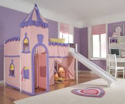 Princess Castle Low Loft Bed Twin Size Girls White Playhouse - Ne kids bunk beds