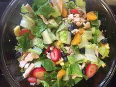 panera strawberry poppy seed chicken salad sooo yummy lunch