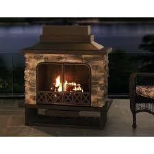 outdoor l post replacement parts sunjoy fireplace inch steel and faux stack stone outdoor free