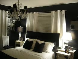 awesome bedroom interior design ideas with black wall paint color