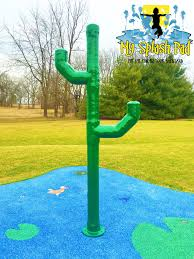 fun cactus for your backyard splash pad or community water park