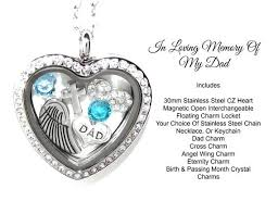 in loving memory lockets in loving memory of my stainless heart floating charm loss