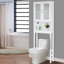 Bathroom Tower Cabinet Costway Wooden The Toilet Storage Cabinet Spacesaver