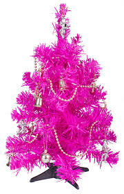 small pink christmas tree with decorations royalty free stock