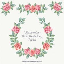watercolor floral ornaments vector free