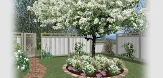 home designer software for deck and landscape software projects a fenced in backyard