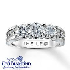 leo engagement rings jared leo 3 ring 2 ct tw cut 18k white gold