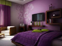 couleur de chambre violet couleur chambre mauve violet accents verts meuble bois jpg 750 562