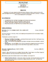 Resume For Wedding Planner 8 Resumes For Bartenders Mla Cover Page