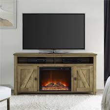 real flame fresno electric fireplace tv stand in white hawthorne
