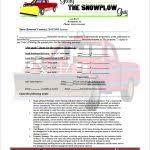 snow removal flyer templates snow plowing contract template 20