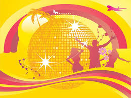 dancing with disco music powerpoint templates music free ppt