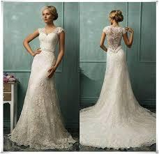 new elegant lace mermaid wedding bridal dress size 6 8 10 12 14 16