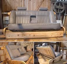fabriquer canapé fabriquer un canapé avec des objets recyclés des idées