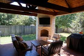 How To Build A Detached Patio Cover by Austin Tx Custom Outdoor Fire Features
