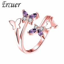 butterfly crystal rings images Abjcoin decentralized marketplace erluer adjustable butterfly jpg