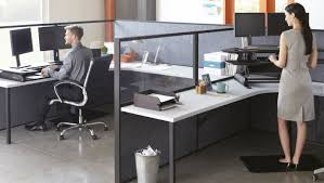 varidesk cube corner 48 for two large monitors standing desk