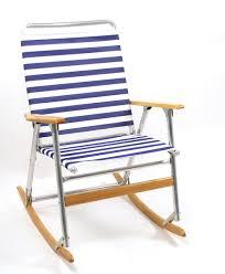 Aluminum Folding Rocker Lawn Chair by Telescope 916 High Back Folding Rocker