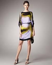 escada printed tunic dress lyst