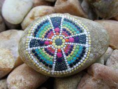 Celtic Garden Decor Hand Painted Irish Beach Pebble With A Shamrock Irish Gifts