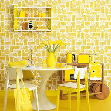 Retro Dining Room Sunshine Yellow Colour Schemes Home Trends Yellow Dining Room