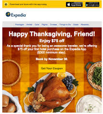 make your customers feel appreciated this thanksgiving email