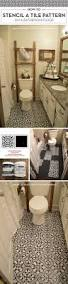 how to stencil a tile pattern on a bathroom floor stencil stories