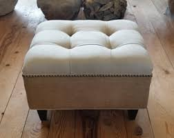 Etsy Ottoman Upholstered Ottoman Etsy