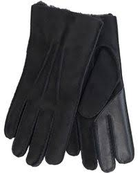 ugg gloves sale office ugg leather smart glove in black for save 8 lyst