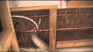 plumbing basement water lines with pex youtube