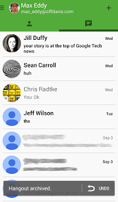 hangouts app android hangouts for android review rating pcmag