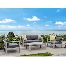 Wood Patio Furniture Eucalyptus Patio Conversation Sets Outdoor Lounge Furniture