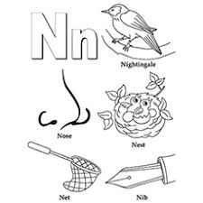 top 10 free printable letter n coloring pages