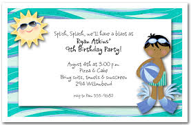 pool party invitations swim party invitations swim fins ethnic boy kids party invitations
