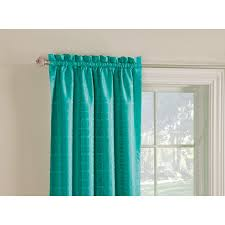 Single Window Curtain by Shop Style Selections Gabby 84 In Aqua Polyester Rod Pocket Room