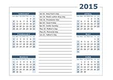2015 calendar templates download 2015 monthly u0026 yearly templates