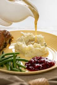 thyme mashed potatoes with mascarpone cheese thanksgiving