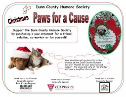 paws for a cause ornament fundraiser through december