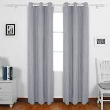 Heavy Grey Curtains Deconovo Solid Color Heavy Thick Blackout Curtains With Grommet