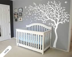 Removable Nursery Wall Decals White Tree Wall Decal Removable Nursery Tree Wall Decals