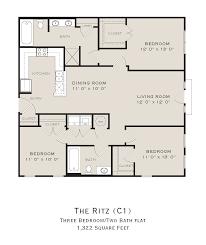 three bedroom floor plans bedroom three bedroom floor plans