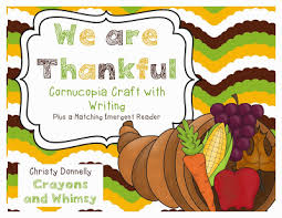 crayons and whimsy we are thankful cornucopia craft