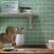 Kitchen Wall Tiles Ideas by Home Kitchen Tiles Rainbow Dark Green 10 X 10 Cm Green Victorian